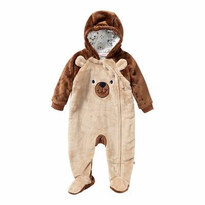 Baby-Jungen-Overall mit Bärengesicht