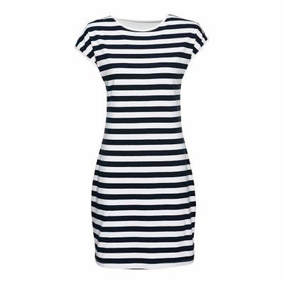 Damen-Kleid mit Streifenmuster