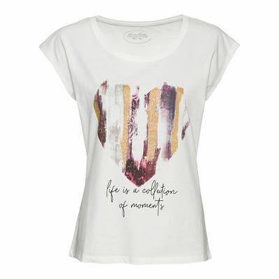 Damen-T-Shirt mit großem Frontaufdruck