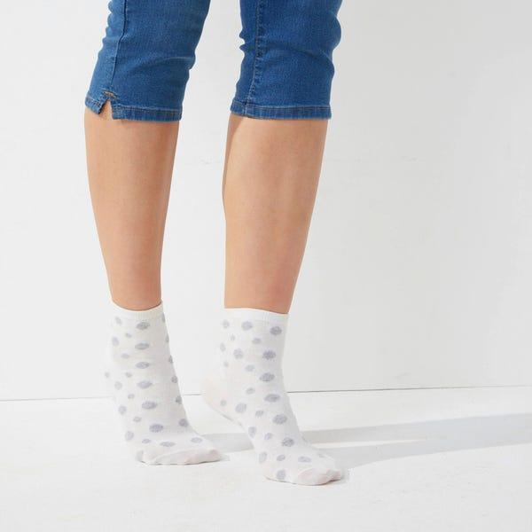 Damen-Kurzschaft-Socken, 3er-Pack