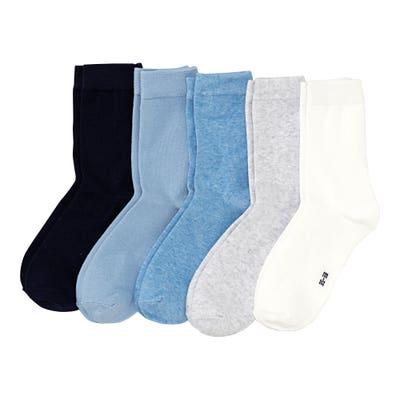 Damen-Socken mit hohem Baumwollanteil, 5er-Pack