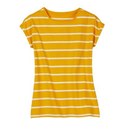 Damen-T-Shirt mit Streifenmuster