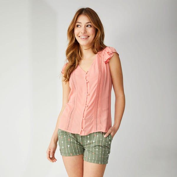 Damen-Shorts mit schickem Muster