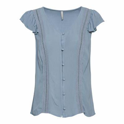 Damen-Bluse mit Spitzenbändern