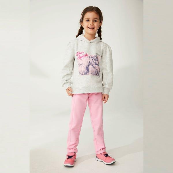 Mädchen-Jogginghose mit Ziernähten