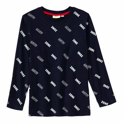 Jungen-Shirt mit Muster aus Schriftzügen