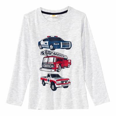 Jungen-Shirt mit Rettungsfahrzeugen