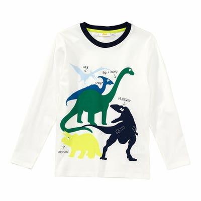 Jungen-Shirt mit Dino-Frontaufdruck