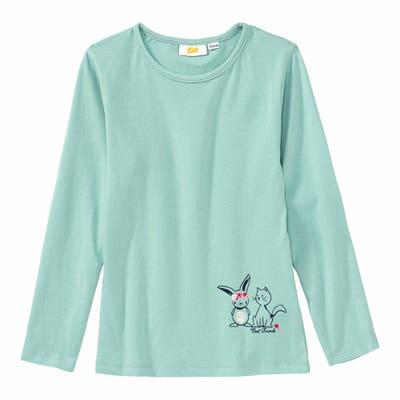Mädchen-Shirt mit kleinem Aufdruck