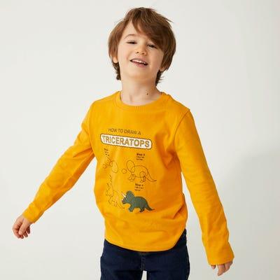 Jungen-Shirt mit Dino-Motiv