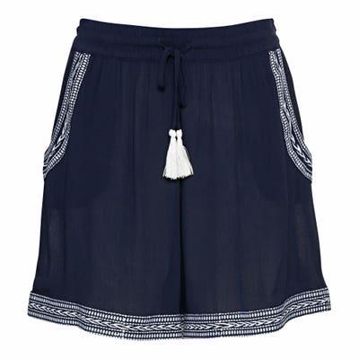 Damen-Shorts mit Stickerei