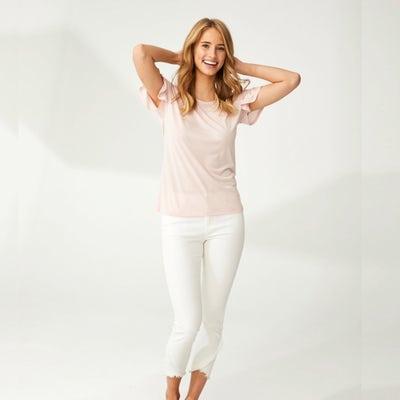 Damen-Jeans mit stylishem Saum