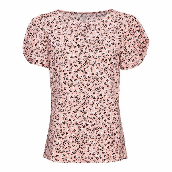 Damen-T-Shirt mit Puffärmeln