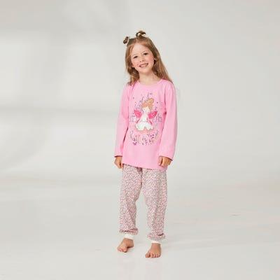 Mädchen-Schlafanzug mit Fee-Motiv, 2-teilig