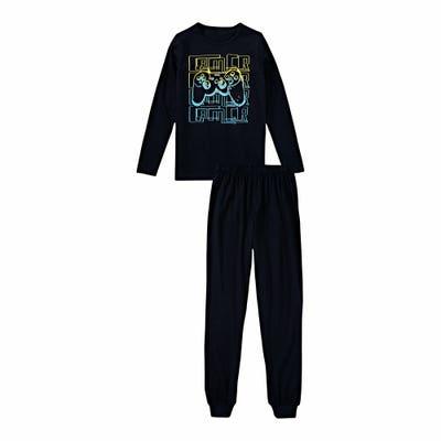 Jungen-Schlafanzug mit Gamer-Frontaufdruck, 2-teilig