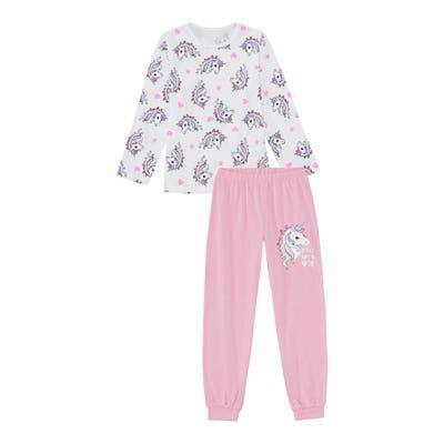 Mädchen-Schlafanzug mit Einhorn-Motiv, 2-teilig