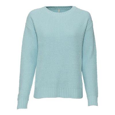 Damen-Pullover mit Ripp-Bündchen