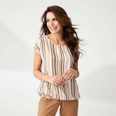 Damen-Bluse mit Längsstreifen