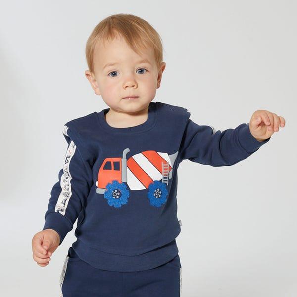 Baby-Jungen-Sweatshirt mit tollem Frontaufdruck