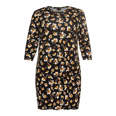 Damen-Kleid mit Blüten-Muster, große Größen