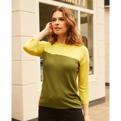 Damen-Pullover in Kontrast-Design