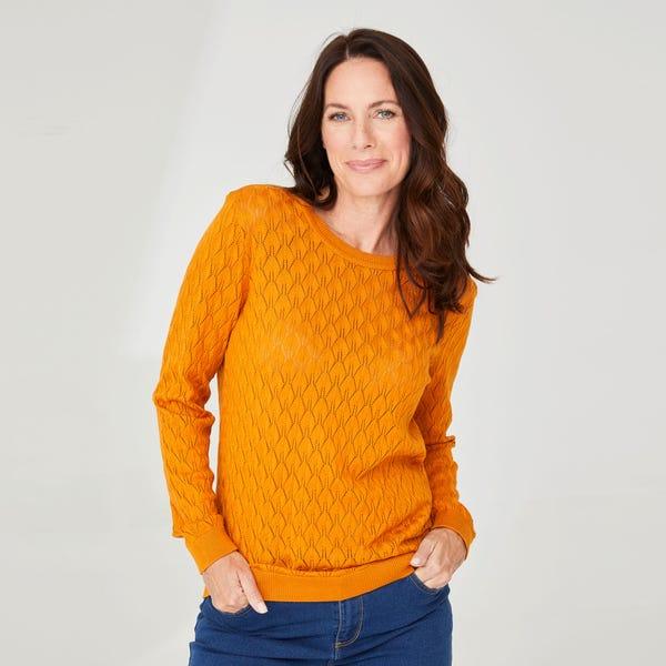 Damen-Pullover mit Rautenmuster