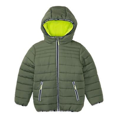 Jungen-Jacke mit gefütterter Kapuze