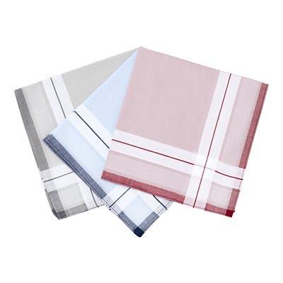 Herren-Taschentuch aus reiner Baumwolle, 3er Pack