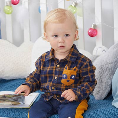 Baby-Jungen Flanel Hemd