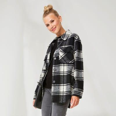 Damen-Jacke im Karo-Design