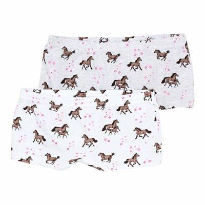 Mädchen-Panty mit Pferde-Muster, 2er-Pack
