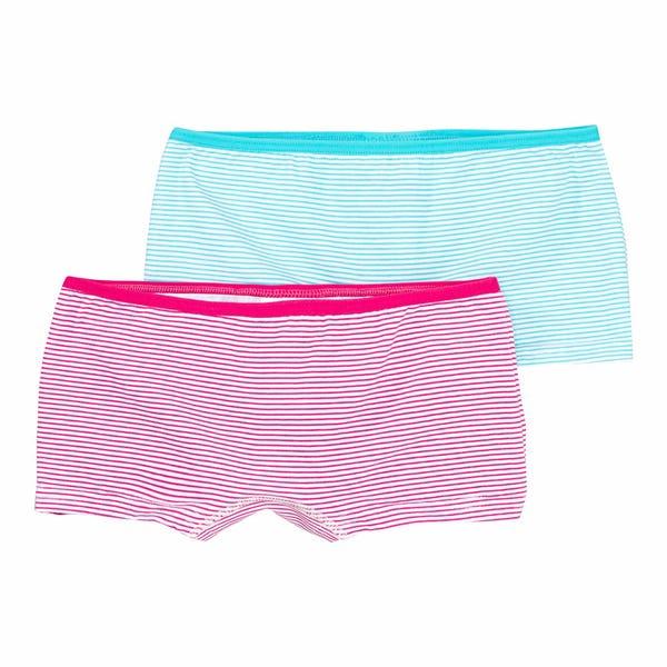 Mädchen-Panty mit Ringelmuster, 2er-Pack