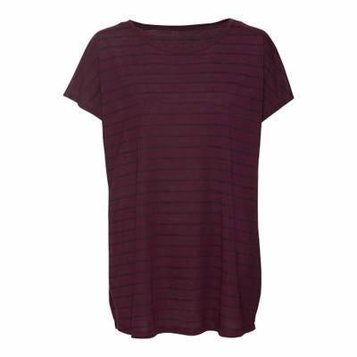 Damen-T-Shirt mit Streifenmuster, große Größen