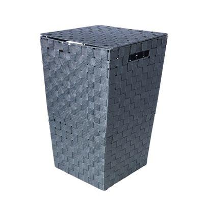Wäschekorb in geflochtener Optik, ca. 33x33x54 cm