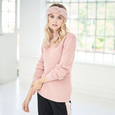 Damen-Pullover mit Strickdesign