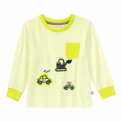 Baby-Jungen-Shirt mit Kontrast-Bündchen