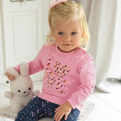 Baby-Mädchen-Sweatshirt mit Love-Aufdruck
