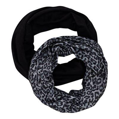 Damen-Loop-Schal mit verschiedenen Mustern, 2er-Pack