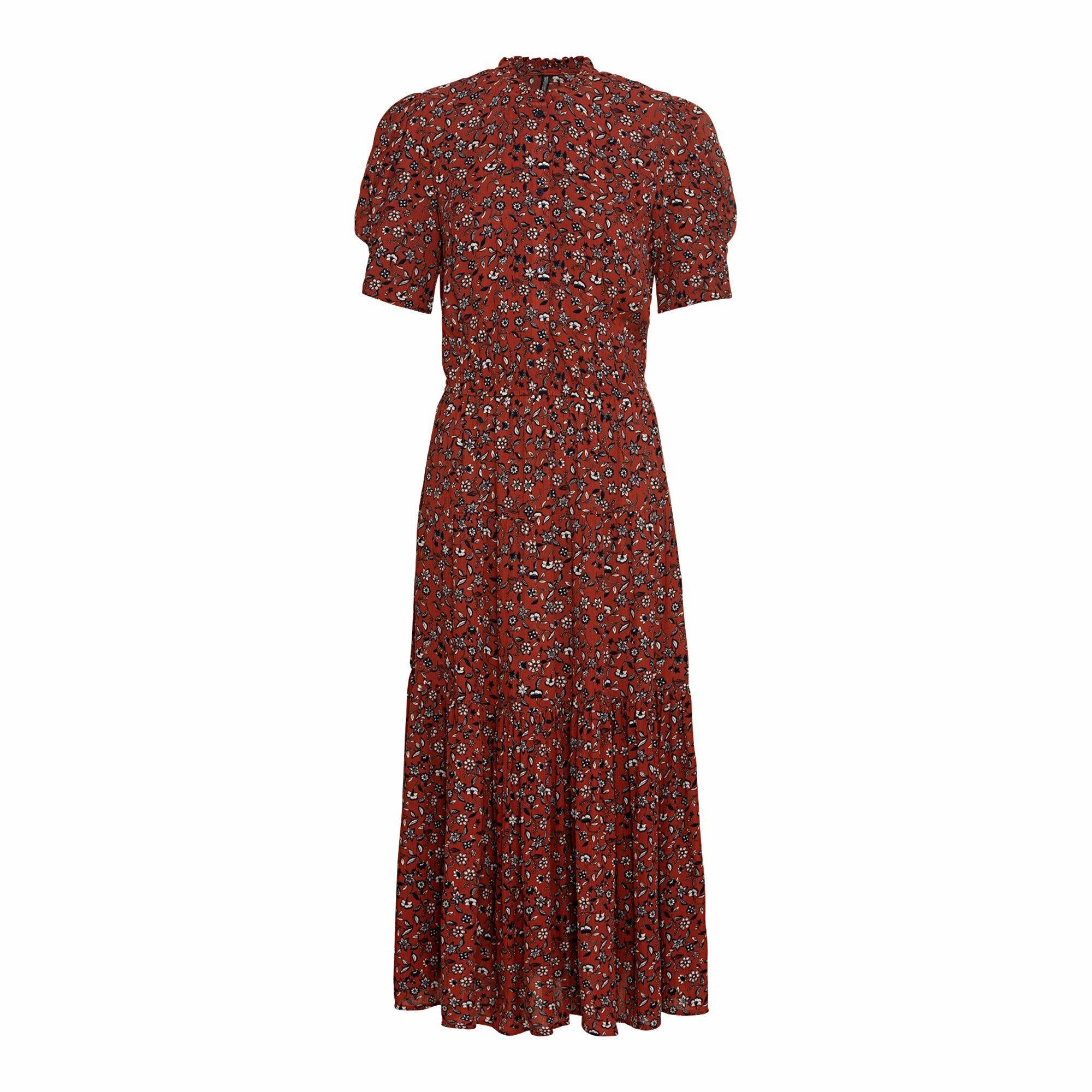 Damen Kleid mit Puffärmeln