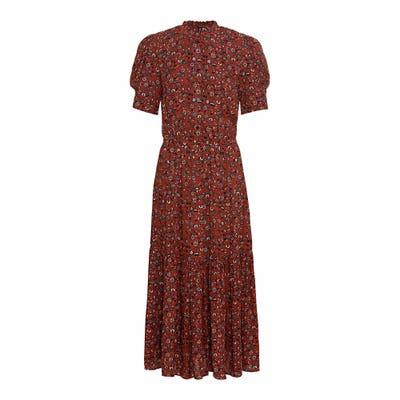 Damen-Kleid mit Puffärmeln