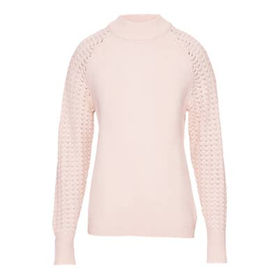 Damen-Pullover mit  schickem Ajourärmel