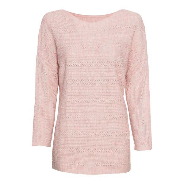 Damen-Pullover mit dezentem Ajour-Muster