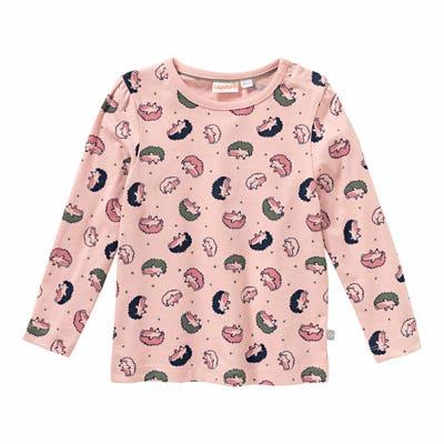 Baby-Mädchen-Shirt mit niedlichen Igeln