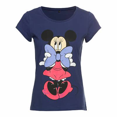 Damen-T-Shirt mit Minnie-Mouse-Aufdruck