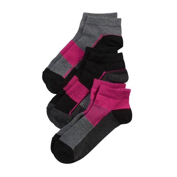 Damen-Sport-Sneaker-Socken, 3er-Pack