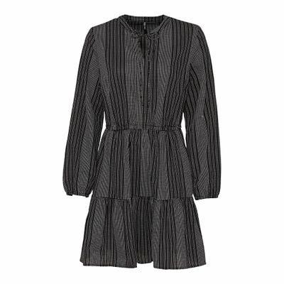 Damen-Kleid mit Jacquard-Muster