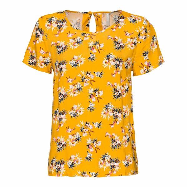 Damen-T-Shirt mit Blumendesign