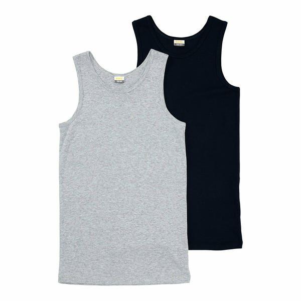 Jungen-Unterhemd, 2er-Pack