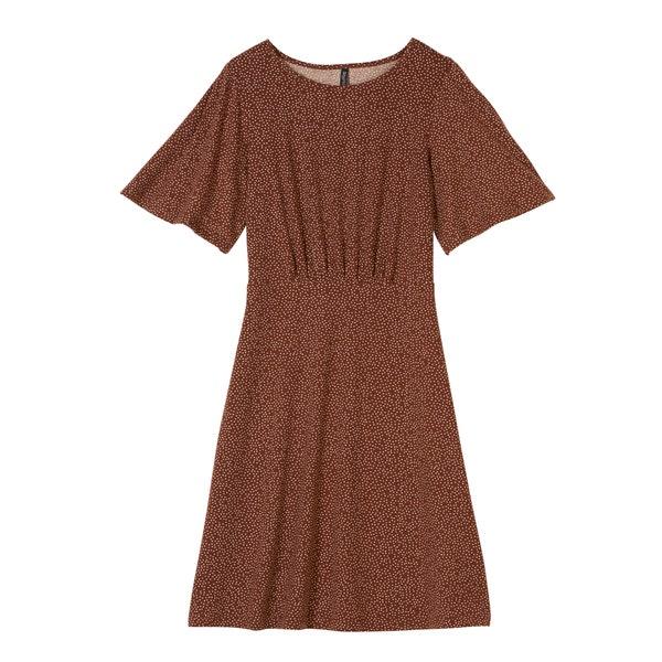 Damen-Kleid mit geraffter Taille