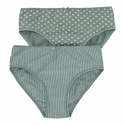 Damen-Rioslip mit schlichtem Muster, 2er-Pack